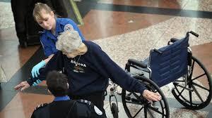Old woman TSA