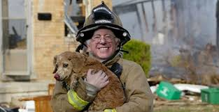 Sanders with dog