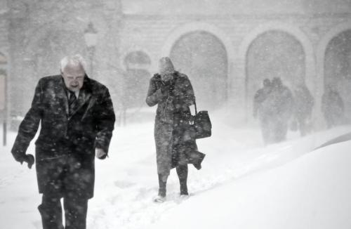 Stockholm blizzard