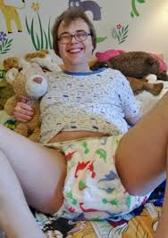 Adult in diapers