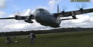 Low flying plane over school